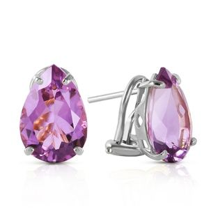 FRENCH CLIPS EARRING WITH NATURAL AMETHYSTS